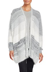 Bcbgeneration Open Front Long Sleeve Sweater Top Grey Combo