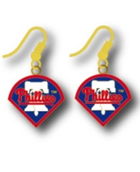 Aminco Philadelphia Phillies Logo Drop Earrings Team Color