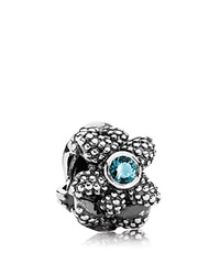 Pandora Design Pandora Charm Sterling Silver And Turquoise Synthetic Spinel Sea Star Moments Collection Silver Turquoise