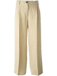 Forte Forte Front Pleat Cropped Pants Nude And Neutrals