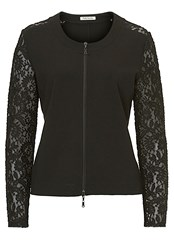 Betty Barclay Jacket With Lace Sleeves Black