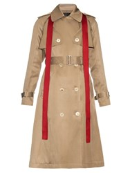 Undercover Removable Sleeved Silk Blend Trench Coat Beige