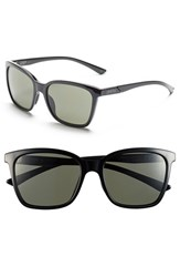 Women's Smith Optics 'Colette' 55Mm Polarized Sunglasses Black Polar Grey Green