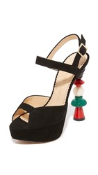 Charlotte Olympia High Voltage Sandals Black