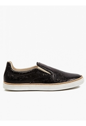 Maison Martin Margiela Men's Floral Embossed Leather Slip On Sneakers