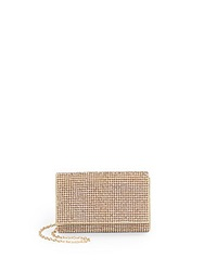 Saks Fifth Avenue Red Rhinestone Clutch Gold