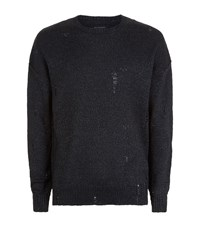 Allsaints Ektarr Crew Jumper Male Black