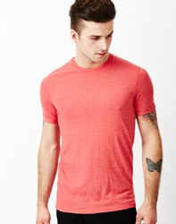 Brave Soul Bravesoul Short Sleeve T Shirt With Rolled Sleeves Red