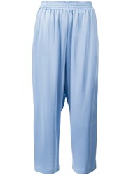 Maison Martin Margiela Contrast Side Stripe Trousers Blue