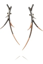 Katie Rowland Zelle Rose Gold And Rhodium Plated Earrings Metallic