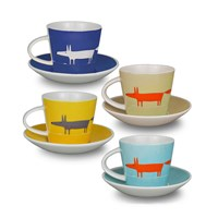 Scion Mr Fox Espresso Cup And Saucers Set Of 4
