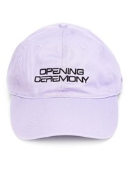 Opening Ceremony Logo Cap Pink Purple