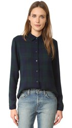 Baldwin Denim Mila Classic Shirt Plaid Gauze