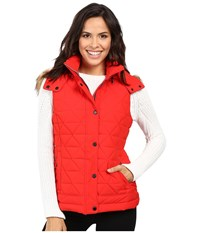 Marc New York Thea 25 Pyramid Puffer Vest Red Women's Coat