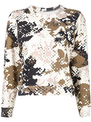 Rag And Bone Rag And Bone Camouflage Print Sweatshirt Brown