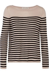 Autumn Cashmere Striped Cashmere Sweater Pink