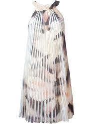 Cacharel Printed Pleated Dress Multicolour