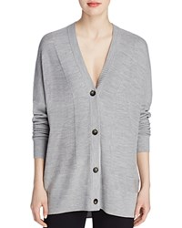 Vince Mesh Knit Cardigan Heather Steel