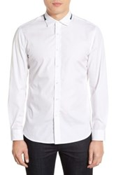 Kent And Curwen Trim Fit Sport Shirt White