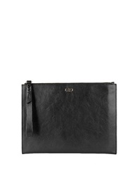 Cole Haan Leather Wristlet Clutch Black