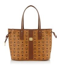 Mcm Heritage Line Reversible Shopper Female Cognac