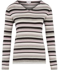 Cc Cotton Modal Stripe Jersey Top Purple