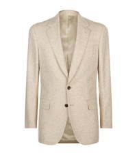 Gieves And Hawkes Fleck Detail Blazer Male Beige