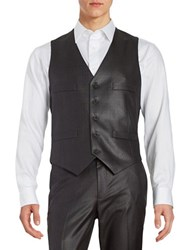 Kenneth Cole Reaction Button Front Vest Gunmetal