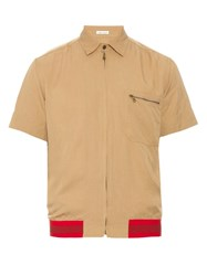 Tomas Maier Contrast Hem Short Sleeved Shirt