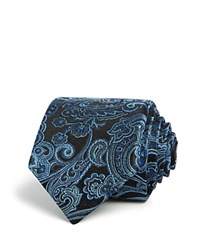 Bloomingdale's The Men's Store At Paisley Classic Tie Navy Blue