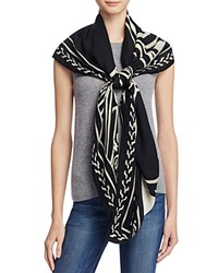 Tory Burch Trocadero Oversized Square Scarf Black