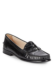 Cole Haan Kent Leather Penny Loafers Black