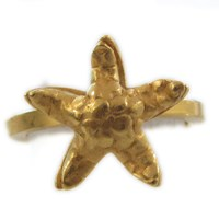 Catherine Marche 18Ct Yellow Gold Plated Starfish Ring