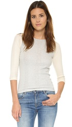 Edith A. Miller Baseball Tee Snowy Grey Natural