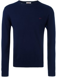Sun 68 Elbow Patch Jumper Blue