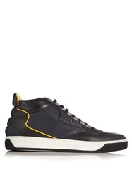 Fendi Bag Bugs Leather High Top Trainers Black Multi