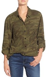 Women's Sanctuary Camo Print Boyfriend Shirt