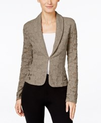 Inc International Concepts Lace Blazer Only At Macy's Truffle Taupe