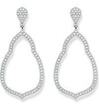 Thomas Sabo Fatima's Garden Sterling Silver And White Pave Zirconia Drop Earrings
