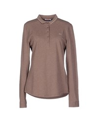 Sun 68 Topwear Polo Shirts Women Khaki