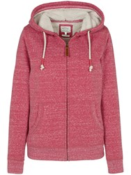 Fat Face Kendal Borg Hoodie Rose Red