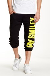 Happiness Family Members Smiley Sweatpant Black