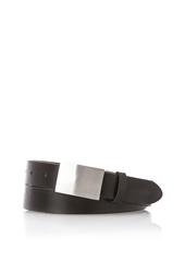 Forever 21 Faux Leather Plaque Buckle Belt