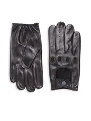Saks Fifth Avenue Nappa Leather Gloves Black