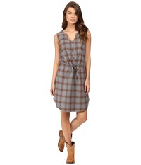 Stetson Steal Blue Plaid Sleeveless Shirtdress Blue Women's Dress