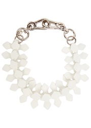 Moxham Kline White Adjustable Laser Cut Necklace