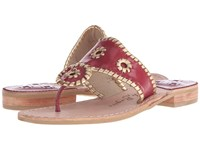 Jack Rogers Spirit Garnet Gold Women's Shoes Red