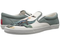 Bucketfeet Jurassic Rodeo Beige Grey Men's Slip On Shoes
