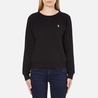 Polo Ralph Lauren Women's Crew Neck Logo Sweatshirt Black