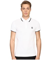 Mcq By Alexander Mcqueen Polo Optic White Men's Short Sleeve Pullover